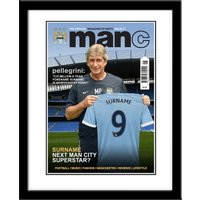 Manchester City Personalised Magazine Cover Framed