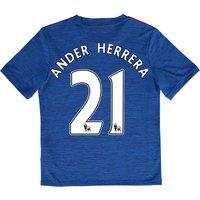 Manchester United Away Shirt 2016-17 - Kids with Herrera 21 printing