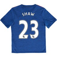 Manchester United Away Shirt 2016-17 - Kids with Shaw 23 printing