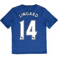 Manchester United Away Shirt 2016-17 - Kids with Lingard 14 printing