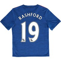 Manchester United Away Shirt 2016-17 - Kids with Rashford 19 printing