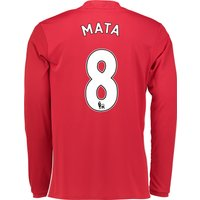 Manchester United Home Shirt 2016-17 - Long Sleeve with Mata 8 printin