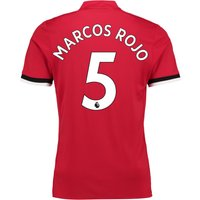 Manchester United Home Shirt 2017-18 with Marcos Rojo 5 printing