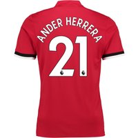 Manchester United Home Shirt 2017-18 with Ander Herrera 21 printing
