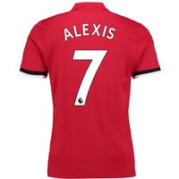 Manchester United Home Shirt 2017-18 with Alexis 7 printing