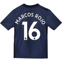 Manchester United Third Shirt 2018-19 - Kids with Marcos Rojo 16 printing