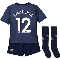 Manchester United Third Mini Kit 2018-19 with Smalling 12 printing