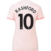 Manchester United Away Shirt 2018-19 - Womens with Rashford 10 printing