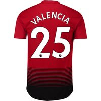 Manchester United Home Adi Zero Shirt 2018-19 with Valencia 25 printing