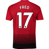 Manchester United Home Shirt 2018-19 with Fred 17 printing