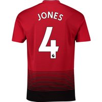 Manchester United Home Shirt 2018-19 with Jones 4 printing