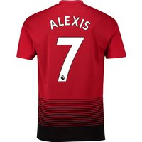 Manchester United Home Shirt 2018-19 with Alexis 7 printing