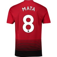 Manchester United Home Shirt 2018-19 with Mata 8 printing