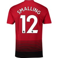 Manchester United Home Shirt 2018-19 with Smalling 12 printing
