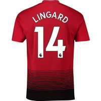 Manchester United Home Shirt 2018-19 with Lingard 14 printing