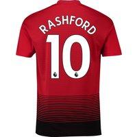 Manchester United Home Shirt 2018-19 with Rashford 10 printing