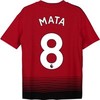 Manchester United Home Shirt 2018-19 - Kids with Mata 8 printing
