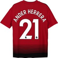 Manchester United Home Shirt 2018-19 - Kids with Ander Herrera 21 printing