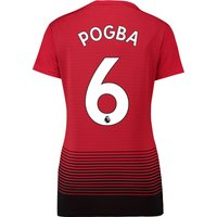 Manchester United Home Shirt 2018-19 - Womens with Pogba 6 printing