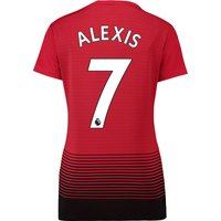 Manchester United Home Shirt 2018-19 - Womens with Alexis 7 printing