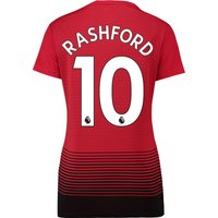Manchester United Home Shirt 2018-19 - Womens with Rashford 10 printing