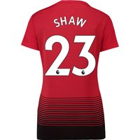 Manchester United Home Shirt 2018-19 - Womens with Shaw 23 printing