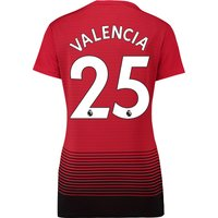 Manchester United Home Shirt 2018-19 - Womens with Valencia 25 printing