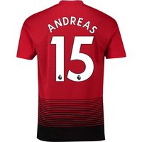 Manchester United Home Shirt 2018-19 with Andreas 15 printing