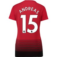 Manchester United Home Shirt 2018-19 - Womens with Andreas 15 printing