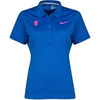 Manchester United Nike Golf Polo - Womens Royal Blue