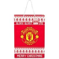 Manchester United Christmas Nordic Gift Bag - 45 x 32 x 10cm