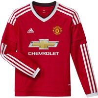 Manchester United Home Shirt 2015/16 - Long Sleeve - Kids Red
