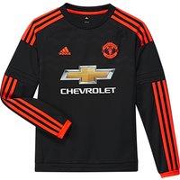 Manchester United Third Shirt 2015/16 - Long Sleeve - Kids Black