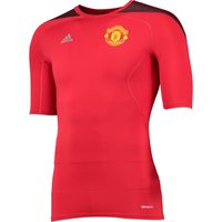 Manchester United TechFit Cool Short Sleeve Base Layer Top Red