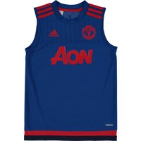 Manchester United Training Sleeveless Jersey - Kids Royal Blue