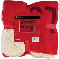 Manchester United Giant Sherpa Fleece Blanket - 127 x 152cm