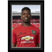 Manchester United Personalised Signature Photo Framed - Pogba