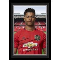 Manchester United Personalised Signature Photo Framed - Rashford