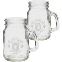 Manchester United Mason Jar Shot Glasses - 2 Pack