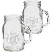 Manchester United Mason Jar Shot Glasses - 2 Pack