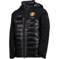 Manchester United Columbia Heatzone 1000 Turbodown Hooded Jacket - Black - Mens