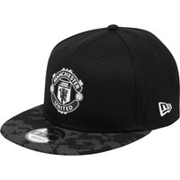 Manchester United New Era 9FIFTY Reflect Camo Snapback Cap - Black - Adult