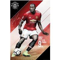Manchester United 2017-18 Lukaku Poster - 61 x 92cm