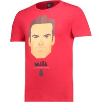 Manchester United Mata T-Shirt by Stanley Chow - Red - Mens