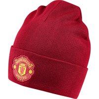 Manchester United 3 Stripe Woolie Hat - Red
