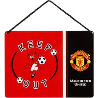 Manchester United Keep Out Door Sign