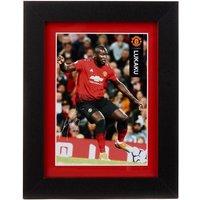 Manchester United 2018-19 Lukaku Framed Print - 15 x 20cm