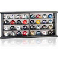 NFL Pocket Pro Revo 32 Helmet Display in Wood Case