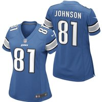 Detroit Lions Home Game Jersey - Calvin Johnson - Womens
