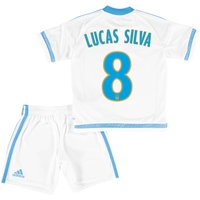 Olympique de Marseille Home Kit 2015/16 - Infants with Lucas Silva 8 printing